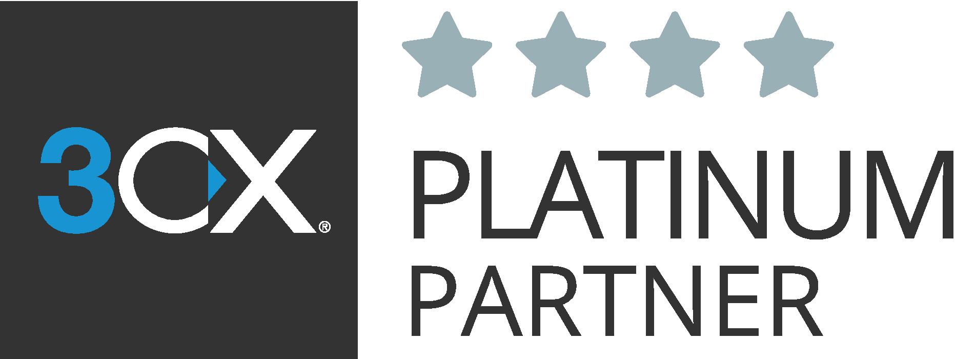 3CX Platinum Partner Logo