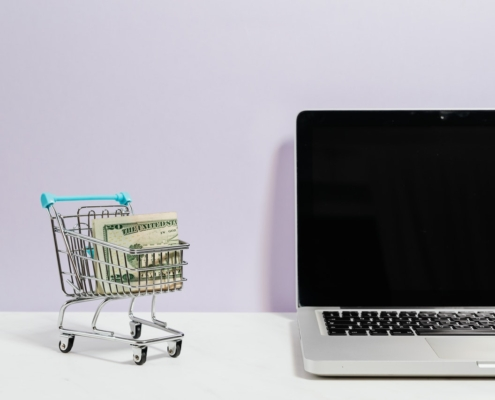 laptop and trolley